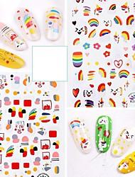 cheap -1 pcs Full Nail Stickers Cartoon Series / Creative nail art Manicure Pedicure Ergonomic Design / Creative Cute / Sweet Daily / Birthday Party
