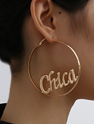 cheap -Women's Hoop Earrings Hollow Out Punk Fashion Earrings Jewelry Gold For Party Evening Vacation Street