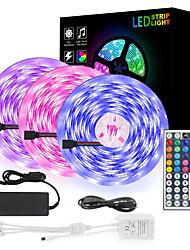cheap -3x5M Flexible LED Light Strips Light Sets RGB Strip Lights 900 LEDs SMD5050 10mm 1 set RGB Christmas New Year's Cuttable Party Decorative 12 V Self-adhesive