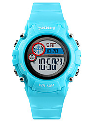 cheap -SKMEI Kids Digital Watch Digital Sporty Silicone 30 m Calendar / date / day Chronograph Alarm Clock Digital Outdoor - Black Blue Red One Year Battery Life