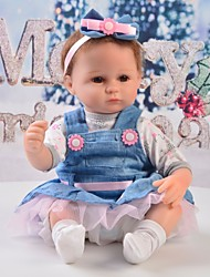 cheap -Reborn Baby Dolls Clothes Reborn Doll Accesories Cotton Fabric for 17-18 Inch Reborn Doll Not Include Reborn Doll Skirt Soft Pure Handmade Girls' 5 pcs