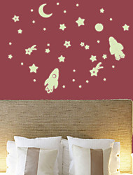 cheap -Rocket Star Luminous Sticker Fluorescent Sticker Children's Room Dormitory Decorative Wall Sticker Glowing