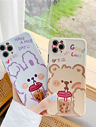 cheap -Cute Milk Tea Boba Drink Clear Phone Case For iPhone 7 8 Plus X xs XR se 2020 11 pro max Food Kawaii Cases Cover