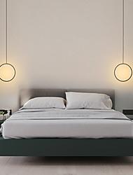 cheap -2pcs 20cm LED Mini Pendant Light Circle Ring Bedside Light Aluminum Painted Finishes Black White Frame for Bedroom Entry Dinning Room Modern 110-120V 220-240V 10W