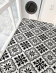 Недорогие -ПВХ противоскользящая саржа печать черный французский камень пол паста ванная комната спальня сделай сам пол паста