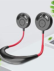 cheap -Bladeless Portable Mini Fan USB Rechargeable Quiet Hand Free Personal Fan 3 Adjustable Speed Wearable Neckband Neck Fan