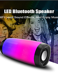 cheap -10W Wireless Bluetooth Speaker with Colorful LED Light Outdoor Portable Column FM Radio TF with Mic Hands Free Stereo Subwoofer