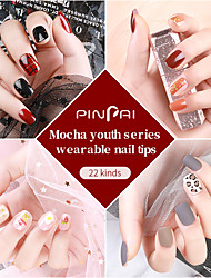 cheap -24pcs Plastics Glossy Ergonomic Design Creative Stylish Trendy Party / Evening Daily Festival Artificial Nail Tips for Finger