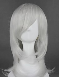 cheap -Cosplay Wig Kurookano Shijima Nabari No Ou Curly Cosplay Halloween With Bangs Wig Medium Length Silver Synthetic Hair 21 inch Women's Anime Fashionable Design Cosplay Silver