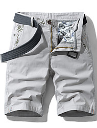 """cheap -Men's Hiking Shorts Summer Outdoor 12"""" Standard Fit Breathable Quick Dry Sweat-wicking Wear Resistance Elastane Cotton Shorts Bottoms Camping / Hiking Hunting Fishing Jacinth +Gray Light Grey Khaki"""
