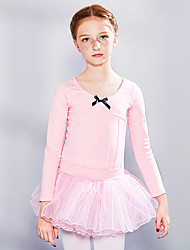 cheap -Ballet Skirts Lace Bow(s) Girls' Training Performance Long Sleeve High Spandex Lace Tulle