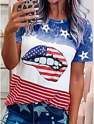halpa -Naisten Color Block T-paita Pyöreä kaula-aukko Päivittäin Kesä Uima-allas S M L XL 2XL 3XL