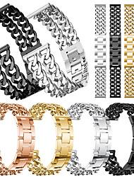 Недорогие -Мода повседневная мужчины женщины смотреть полосы простой двухрядный ковбой цепи сплава ремешок для часов ремешок на запястье подарки для ticwatch pro / ticwatch s2 / ticwatch e2 ticwatch