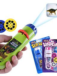 billiga -projektion ficklampa barn projektor ljus söt tecknad leksak natt foto bild ljus läggdags roliga leksaker
