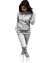 cheap -Women's Activewear Set Solid Colored Basic Hoodies Sweatshirts  Wine White Black