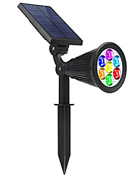cheap -1pc RGB 7LED Solar Light Dimmable Color Change Outdoor Waterproof Solar Power Spotlight Garden Yard path Lawn Lamp Landscape