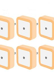 cheap -6pcs LED Night Light Mini Light Sensor Control 110V 220V EU US Plug Nightlight Lamp For Children Kids Living Room Bedroom Lighting