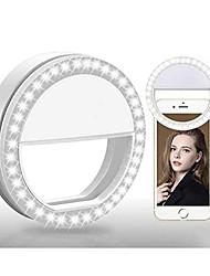 cheap -Selfie Ring Light LED Smart Light 3 Modes Dimmable Selfie Light AAA Batteries Powered 2pcs