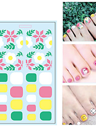 cheap -1 pcs 3D Nail Stickers Floral Theme / Fruit nail art Manicure Pedicure Water Resistant / Creative / Slim design Sweet / Cute Party / Evening / Daily / Festival