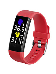 cheap -696 TW115 Plus Unisex Smart Wristbands Android iOS Bluetooth Heart Rate Monitor Blood Pressure Measurement Sports Thermometer Information Pedometer Call Reminder Activity Tracker Sleep Tracker Find