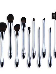 cheap -Professional Makeup Brushes 10pcs Soft Full Coverage Artificial Fibre Brush Plastic for Foundation Brush Makeup Brush Set