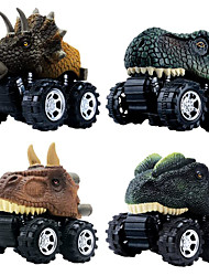 cheap -Vehicle Playset Pull Back Car / Inertia Car Jurassic Dinosaur Tyrannosaurus Tyrannosaurus Rex Creative Cool PVC (Polyvinylchlorid) Plastic Mini Car Vehicles Toys for Party Favor or Kids Birthday Gift