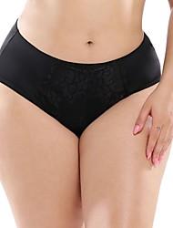 cheap -Women's Lace / Peplum Brief - Plus Size High Waist White Black Red L XL XXL