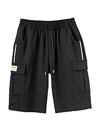 cheap -Men's Basic Daily Shorts Tactical Cargo Pants - Solid Colored Drawstring Breathable White Blue Red US32 / UK32 / EU40 / US34 / UK34 / EU42 / US36 / UK36 / EU44