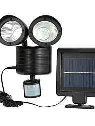 cheap -1pc 2 W LED Solar Lights / Outdoor Wall Lights Solar Powered / Motion Detection Monitor Daylight 1.2 V Outdoor Lighting 22 LED Beads
