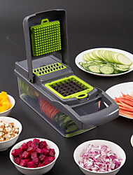 cheap -Food Chopper Vegetable-Fruit-Cheese-Onion Chopper Slicer Dicer Tomato Grater 12 in 1 Veggie Chopper Spiralizer Salad Potato Slicer with Container Multi-function Kitchen Aid Carrot Cutter