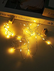 cheap -2m String Lights 20 LEDs 4pcs 12pcs Warm White Party Christmas Wedding Decoration Batteries Powered