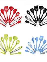cheap -Cooking Utensils Full Body Silicone Heatproof Dining and Kitchen 10pcs