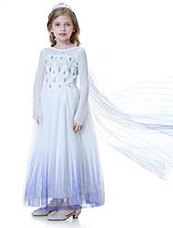 cheap -Elsa Dress Crown Movie Cosplay Vacation Dress Light Purple Dress Tiaras