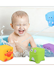 cheap -Bath Toy Pools & Water Fun Water Toys Water Play Sets Bathtub Toy Elephant Cow Tiger PVC (Polyvinylchlorid) Floating Adorable Lovely 6 pcs Spring & Summer All Seasons for Toddlers, Bathtime Gift for
