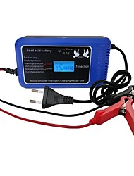 cheap -12V 10A Intelligent Pluse Repairing Charger with LED Display Motorcycle Car Battery Charger Lead Acid Battery Charger