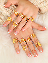 cheap -Ring Gold 18K Gold Plated Copper Letter Simple Fashion 1pc Adjustable / Adjustable Ring
