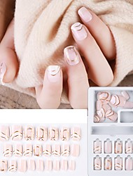 cheap -30 pcsWear Nail Patch False Nail Patch Nail Finished Products Detachable Nail Gradient Jump Color Wear Nail