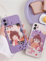 cheap -Hot Cartoon girl Olaf snowflake Phone Case For iPhone 7 8  11 pro X XSM XS XR se 2020 Clear soft TPU Emboss Cover