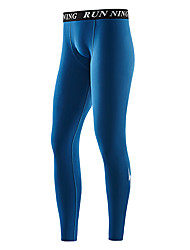 cheap -Men's Running Tights Leggings Compression Pants Athletic 2pcs Leggings Bottoms Sport Running Fitness Jogging Butt Lift Breathable Quick Dry Black Purple Grey Ink Blue Dark Navy Fashion / Stretchy