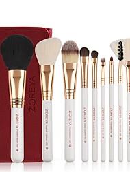 cheap -Professional Makeup Brushes 10pcs Soft Bamboo for Foundation Brush Eyeshadow Brush Makeup Brush Set