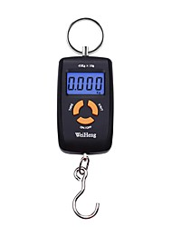 cheap -Mini Pocket LCD Smile Scale Hook Scale 45KG * 10KG High Precision Hanging Hook Fish Scale Digital Food Scale