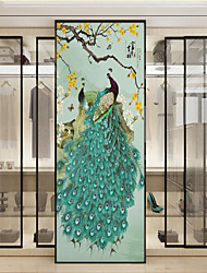 cheap -Custom Self-adhesive Mural Green Peacock Suitable for Background Wall Restaurant Bedroom Hotel Wall Decoration Art  Room Wallcovering