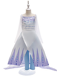 cheap -Fairytale Frozen Dress Costume Girls' Movie Cosplay Cosplay Princess Vacation Dress Purple (With Accessories) Dress Children's Day
