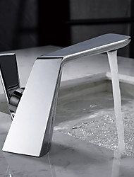 cheap -Chrome Bathroom Basin Faucet Creative Wash Basin Bathroom Single Handle Hot and Cold Water