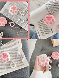Недорогие -мультфильм кошачий лап беспроводной чехол для наушников bluetooth для apple airpods чехол милые силиконовые чехлы для наушников на air pods 2 1 крышка