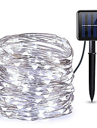 cheap -10M 100LEDs Solar LED String Lights Outdoor String Lights 8 Function Outdoor Waterproof Fairy Lights Garden Christmas Wedding Birthday Party Holiday  Decoration Light