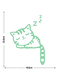 cheap -Sleeping Luminous Stickers Cat Cat Ending Background Decoration Removable Stickers