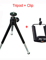 cheap -Flexible Mini Aluminum Tripod Two-section Telescopic Tripod For iPhone Xiaomi Samsung Huawei Tripod Stand For Mobile Smartphone For Huawei Xiaomi onePlus iPhone Samsung