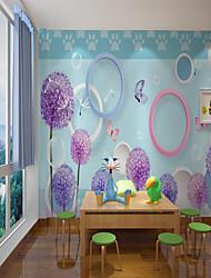 Недорогие -Пользовательские самоклеющиеся росписи обоев вышитые мяч детский мультфильм стиль подходит для спальни детская комната школьная вечеринка арт-деко украшения дома