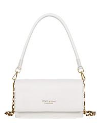 cheap -Women's PU Leather Crossbody Bag Leather Bag Letter White / Black / Blue